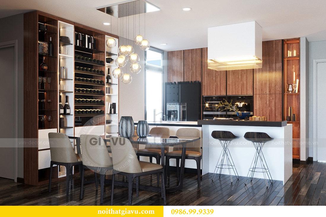 Thiết kế nội thất Vinhomes Sky Lake tòa S2 căn 06 - chị Loan 1