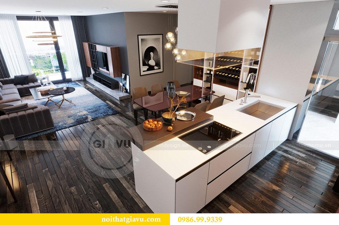 Thiết kế nội thất Vinhomes Sky Lake tòa S2 căn 06 - chị Loan 2