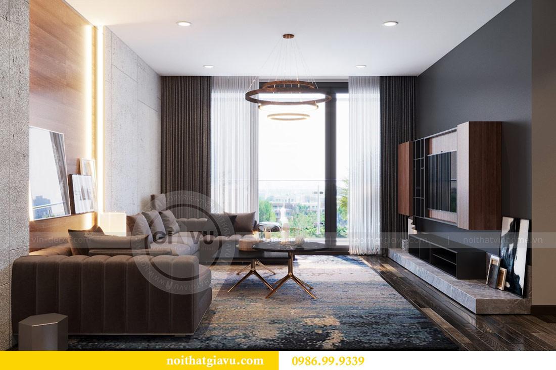 Thiết kế nội thất Vinhomes Sky Lake tòa S2 căn 06 - chị Loan 4
