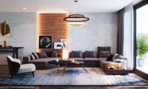 Thiết kế nội thất Vinhomes Sky Lake tòa S2 căn 06 – chị Loan