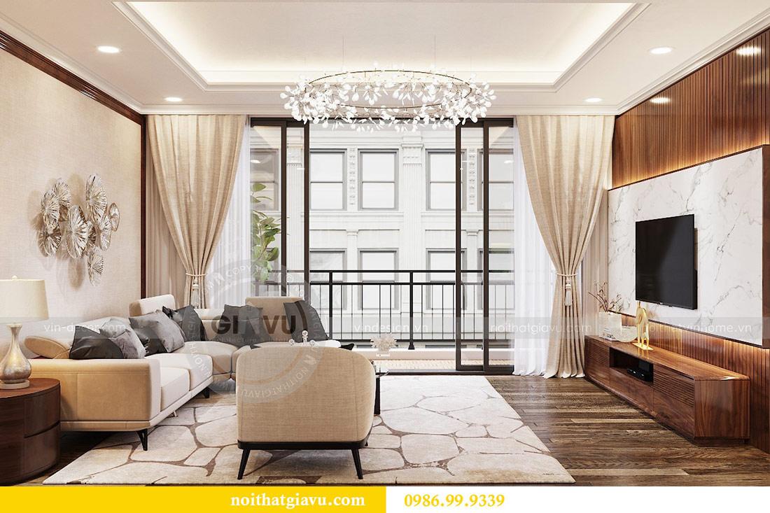 Thiết kế thi công nội thất trọn gói chung cư Dcapitale tòa C3 căn 04 2