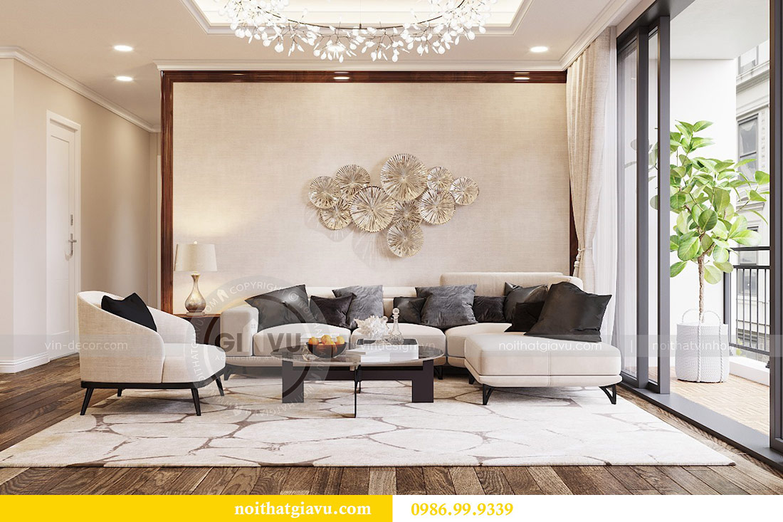 Thiết kế thi công nội thất trọn gói chung cư Dcapitale tòa C3 căn 04 3
