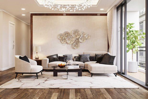 Thiết kế thi công nội thất trọn gói chung cư Dcapitale tòa C3 căn 04