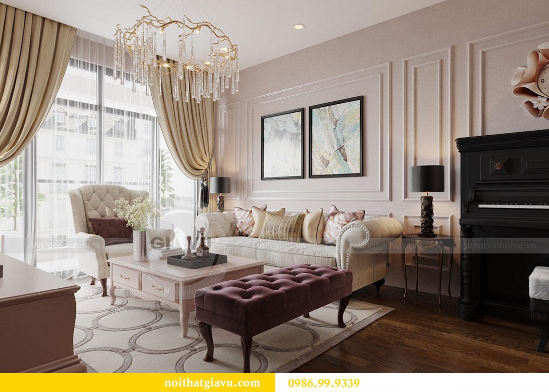 Thiết kế nội thất chung cư Ancora Lương Yên căn 01 tòa T2 5