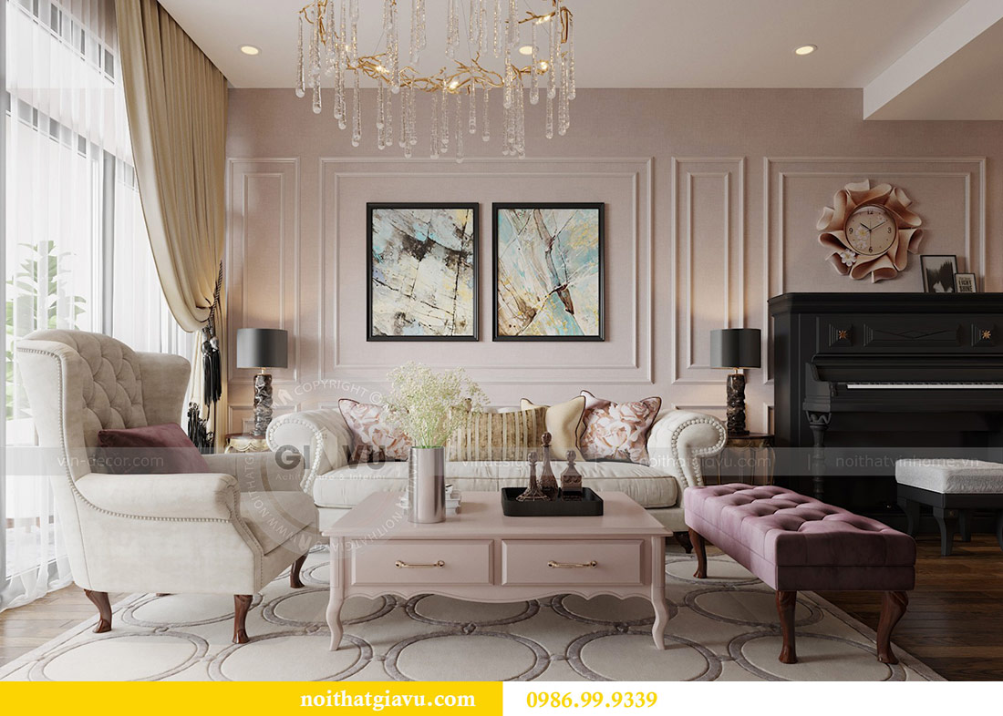 Thiết kế nội thất chung cư Ancora Lương Yên căn 01 tòa T2 6