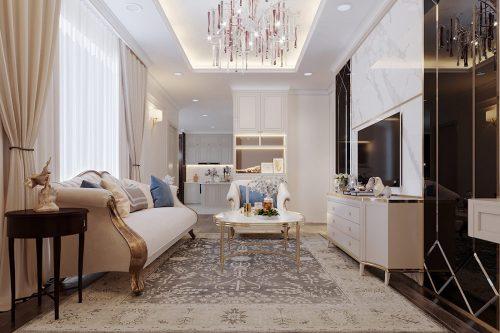 Thiết kế nội thất chung cư Mễ Trì tòa G1 căn 3 ngủ nhà chị Thu