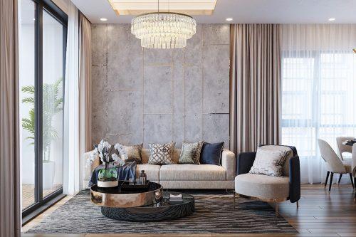 Thiết kế nội thất Vinhomes Green Bay tòa G2 căn 05 – chị Trang