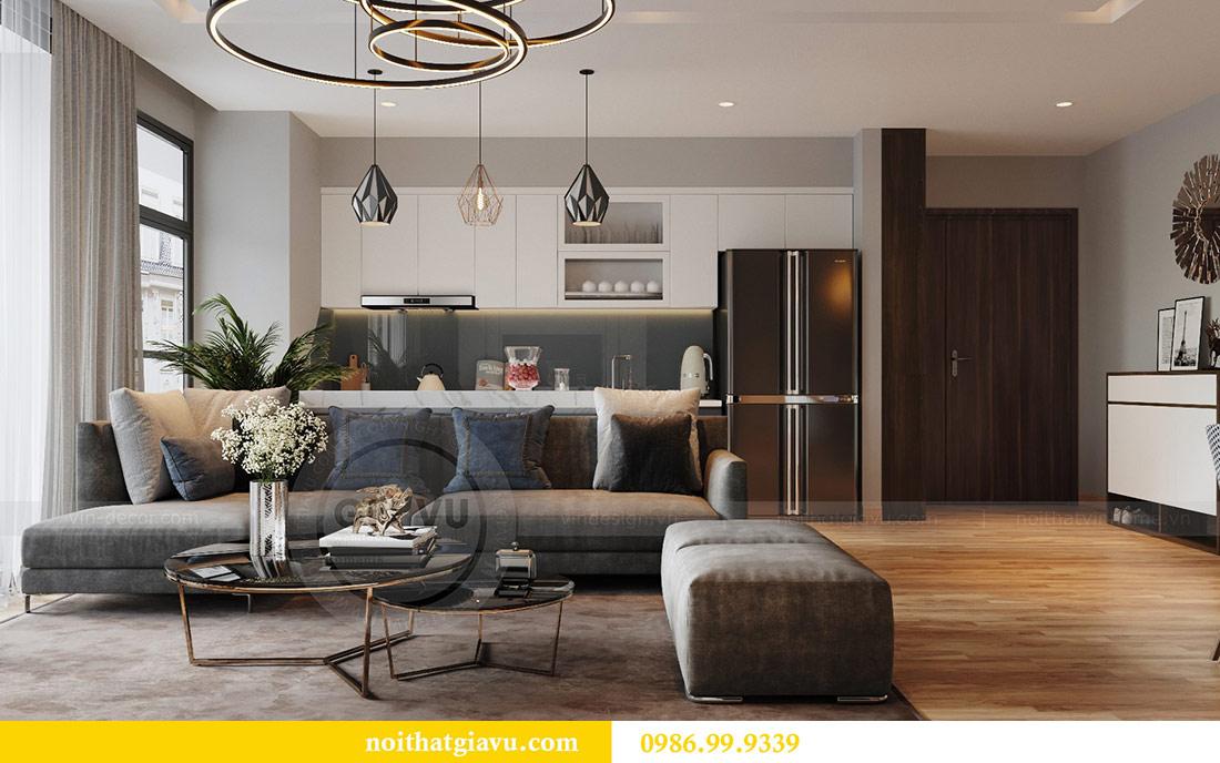 Thiết kế nội thất Vinhomes Liễu Giai căn 3 ngủ nhà chú Hiệp 1