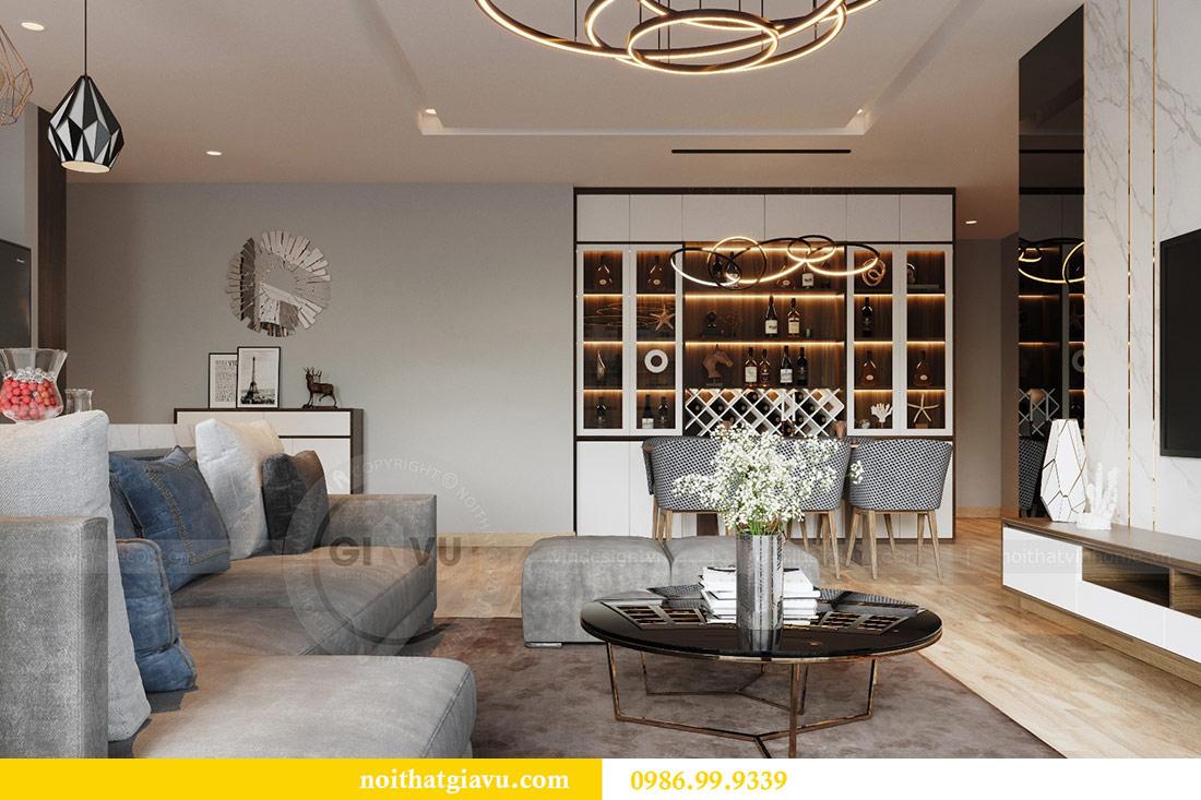 Thiết kế nội thất Vinhomes Liễu Giai căn 3 ngủ nhà chú Hiệp 3