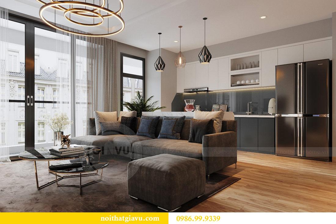 Thiết kế nội thất Vinhomes Liễu Giai căn 3 ngủ nhà chú Hiệp 4