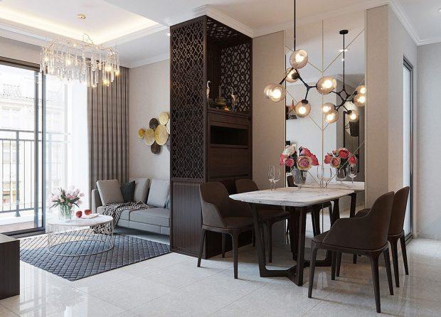 Thiết kế thi công nội thất Vinhomes Dcapitale tòa C1 căn 01 – anh Nam