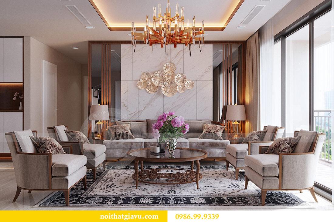 Thiết kế nội thất chung cư Dcapitale tòa C3 căn 10 - chị Hằng 1
