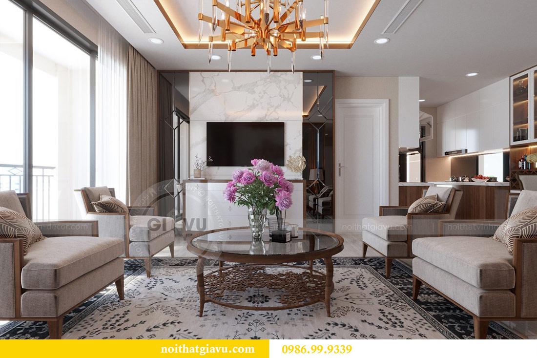Thiết kế nội thất chung cư Dcapitale tòa C3 căn 10 - chị Hằng 2