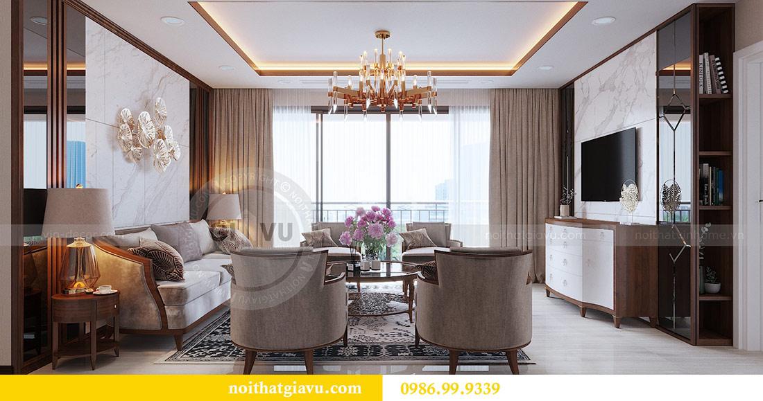 Thiết kế nội thất chung cư Dcapitale tòa C3 căn 10 - chị Hằng 3