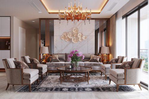 Thiết kế nội thất chung cư Dcapitale tòa C3 căn 10 – chị Hằng