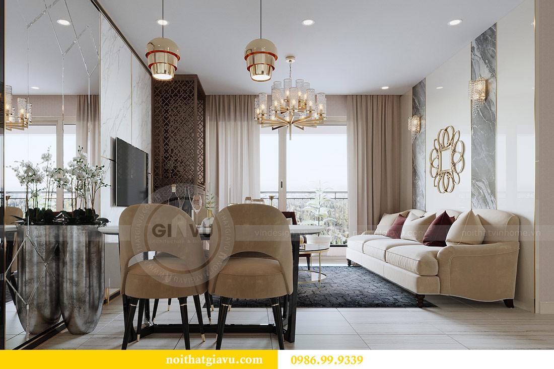 Thiết kế thi công nội thất Vinhomes Dcapitale tòa C3 căn 05 3