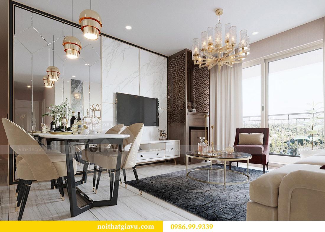 Thiết kế thi công nội thất Vinhomes Dcapitale tòa C3 căn 05 4