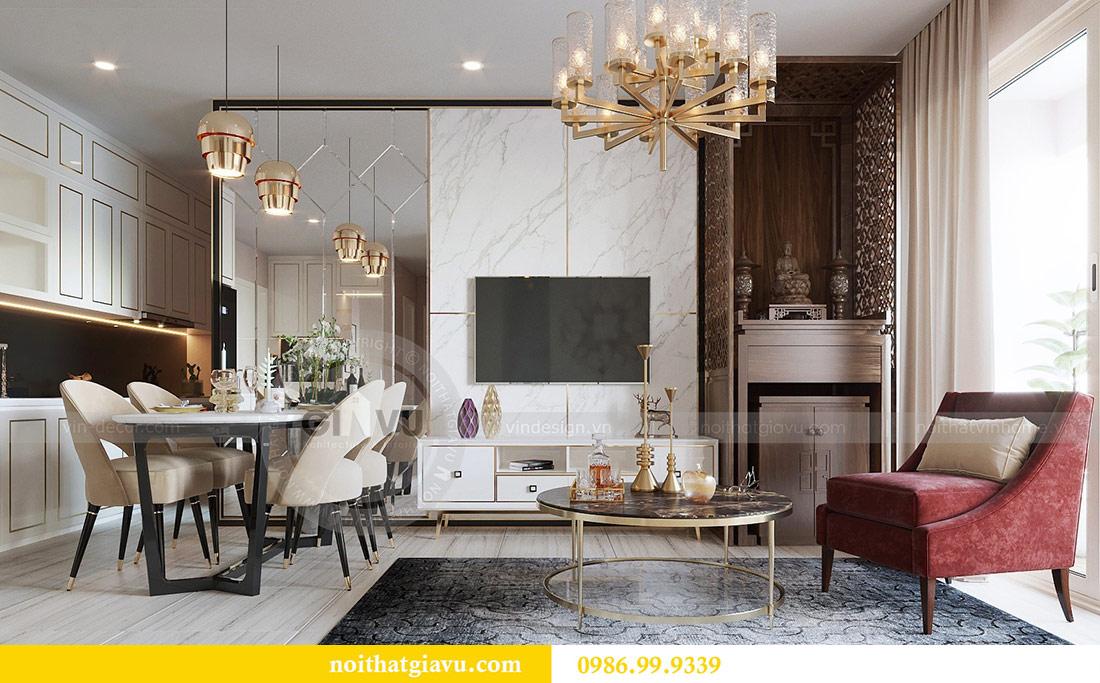 Thiết kế thi công nội thất Vinhomes Dcapitale tòa C3 căn 05 5