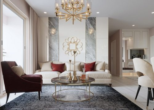 Thiết kế thi công nội thất Vinhomes Dcapitale tòa C3 căn 05