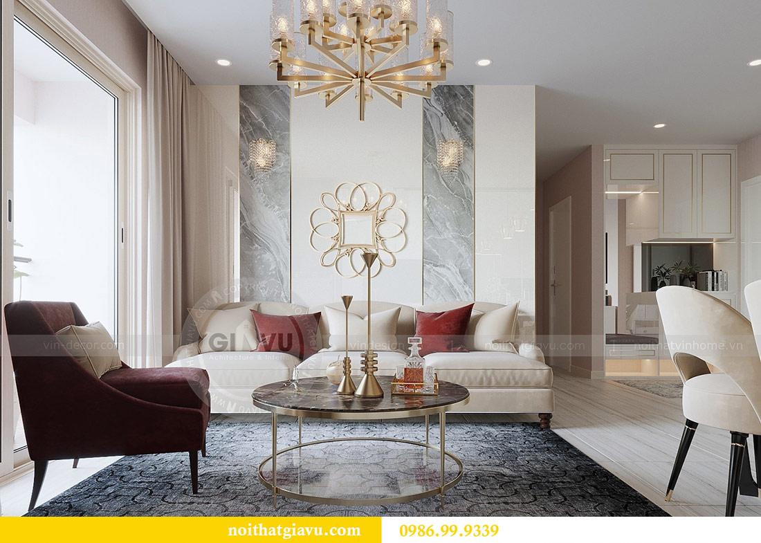 Thiết kế thi công nội thất Vinhomes Dcapitale tòa C3 căn 05 6