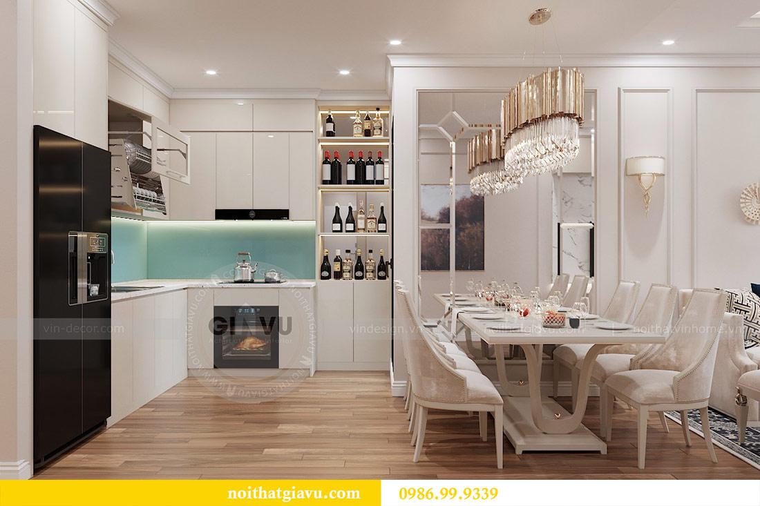 Thiết kế căn hộ cao cấp Metropolis phong cách tân cổ điển - chị Lan 3