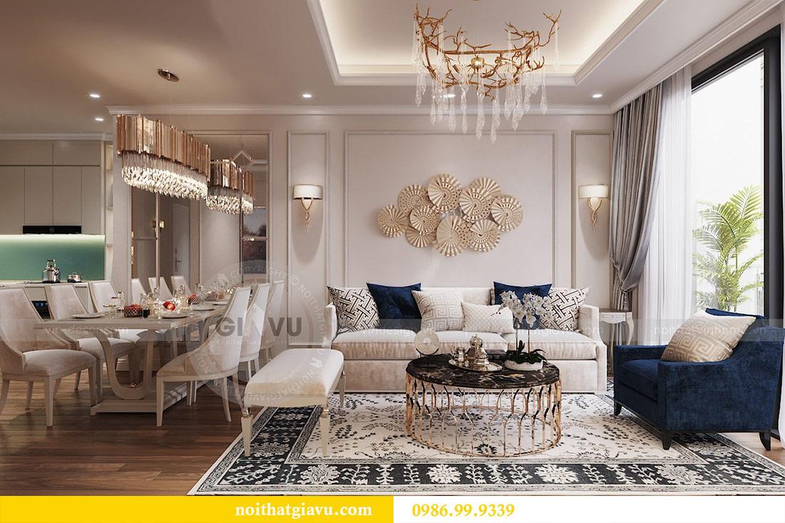 Thiết kế căn hộ cao cấp Metropolis phong cách tân cổ điển - chị Lan 4