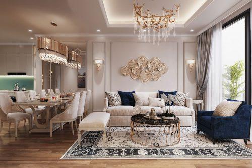 Thiết kế căn hộ cao cấp Metropolis phong cách tân cổ điển – chị Lan