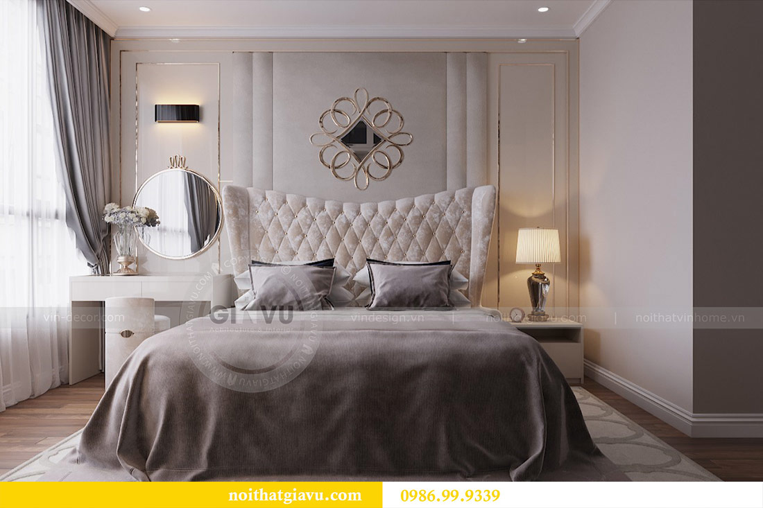 Thiết kế căn hộ cao cấp Metropolis phong cách tân cổ điển - chị Lan 6