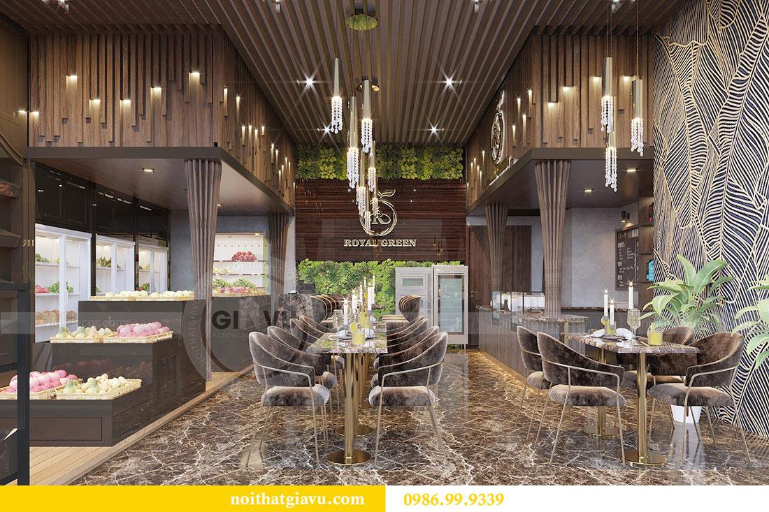 Thiết kế nội thất shophouse Vinhomes Green Bay - chị Yến 1