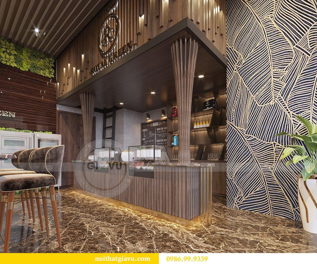 Thiết kế nội thất shophouse Vinhomes Green Bay - chị Yến 4
