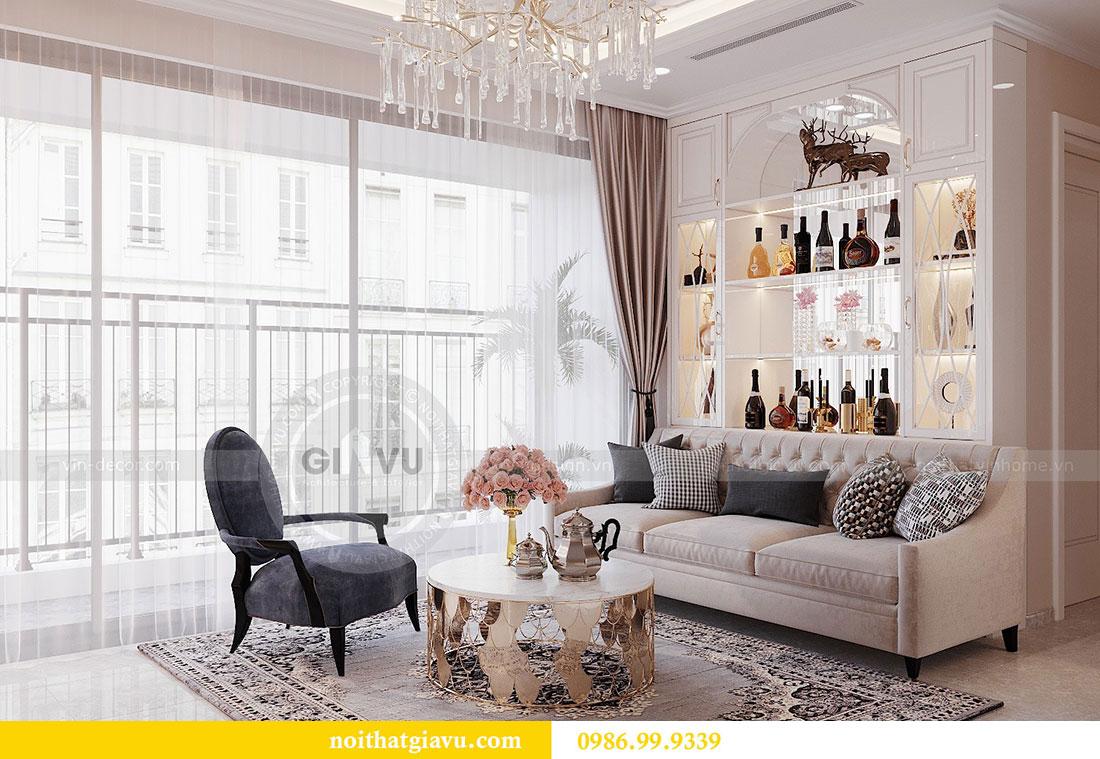 Thiết kế nội thất căn hộ chung cư Dcapitale tòa C3 căn 09 - anh Luân 5