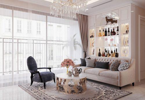 Thiết kế nội thất căn hộ chung cư Dcapitale tòa C3 căn 09 – anh Luân