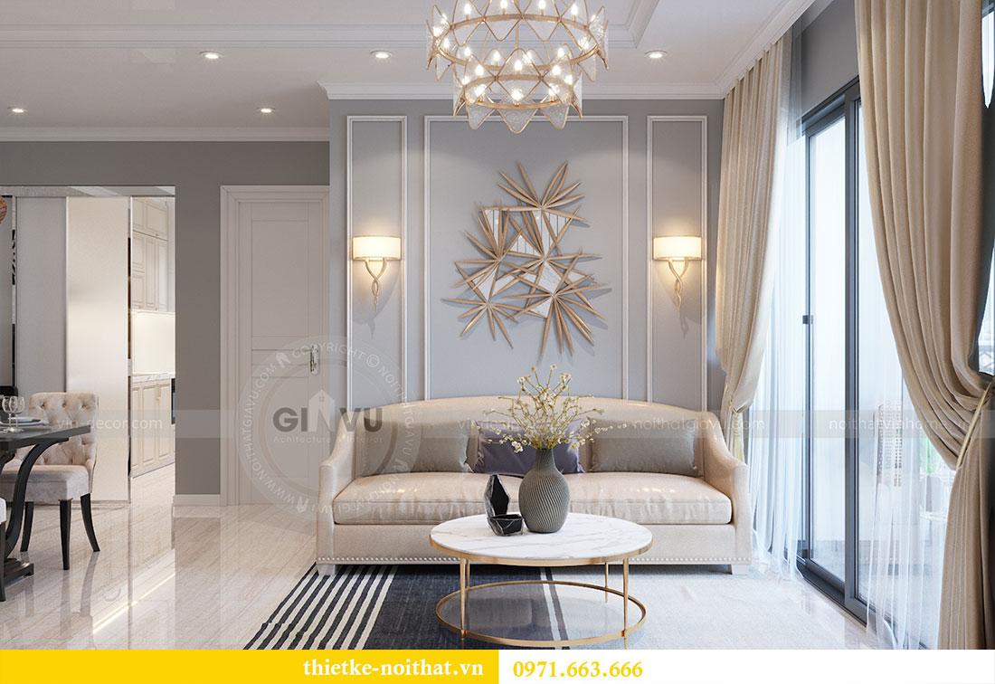Thiết kế nội thất Dcapitale tòa C7 căn 05 phong cách hiện đại - chị Hà 5