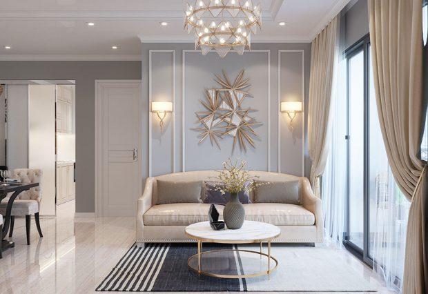 Thiết kế nội thất Dcapitale tòa C7 căn 05 phong cách hiện đại – chị Hà