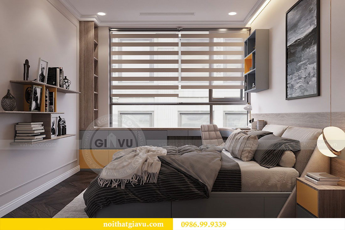 Thiết kế thi công nội thất chung cư 120m2 đẹp sang trọng - chị Hương 15