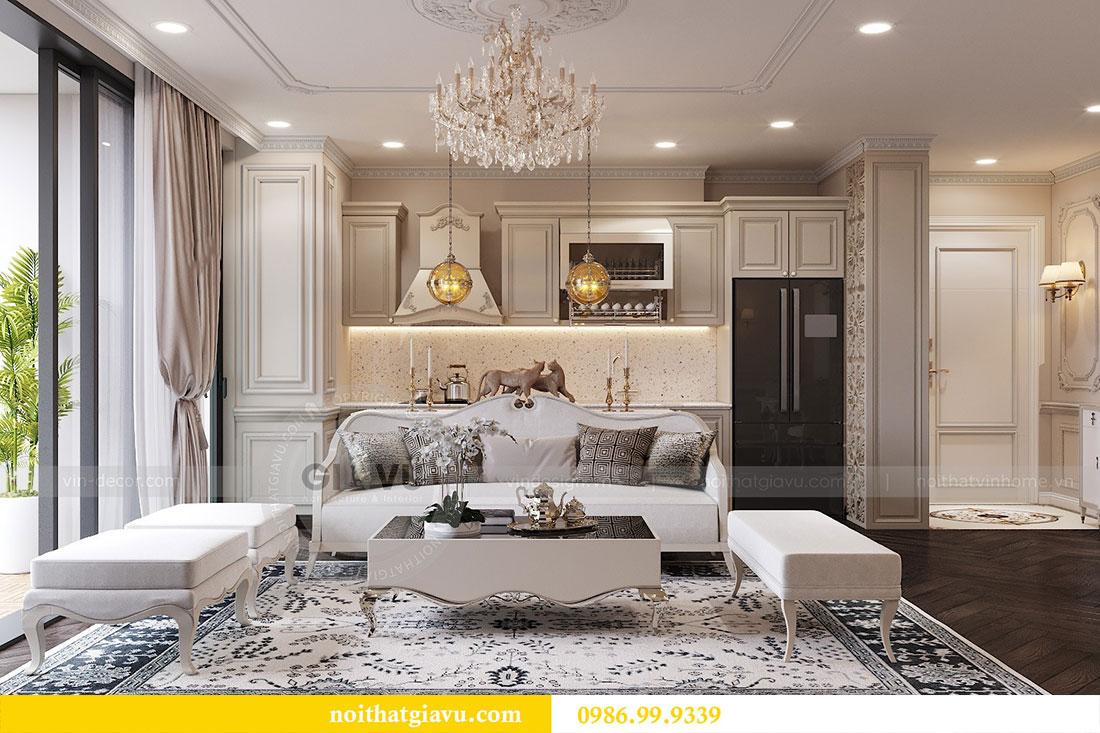 Thiết kế thi công nội thất chung cư 120m2 đẹp sang trọng - chị Hương 5