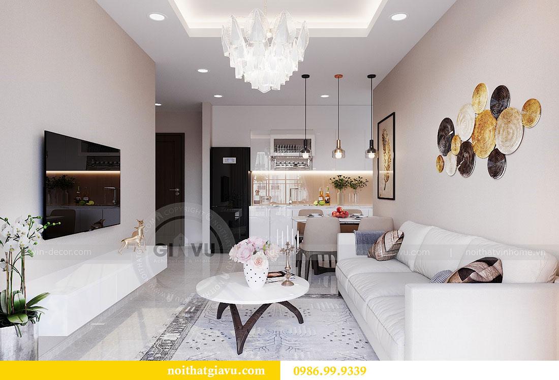 Chiêm ngưỡng mẫu thiết kế nội thất căn hộ 2 phòng ngủ đẹp hiện đại 5