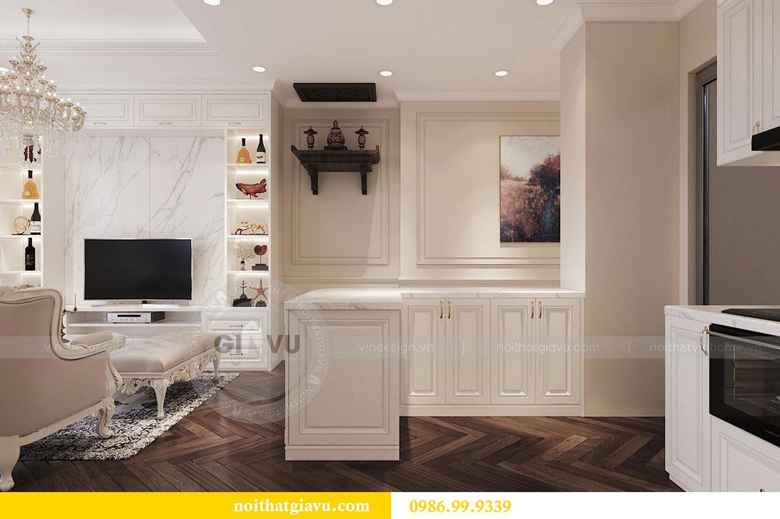 Tham khảo mẫu thiết kế nội thất chung cư Dcapitale căn 3 ngủ - chị Hằng 2