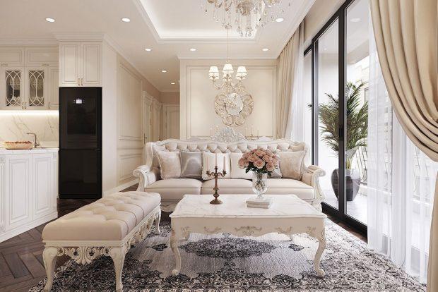 Tham khảo mẫu thiết kế nội thất chung cư Dcapitale căn 3 ngủ – chị Hằng