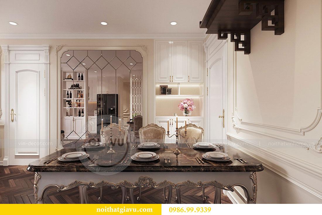 Thiết kế nội thất chung cư 107m2 phong cách tân cổ điển - anh Nam 1