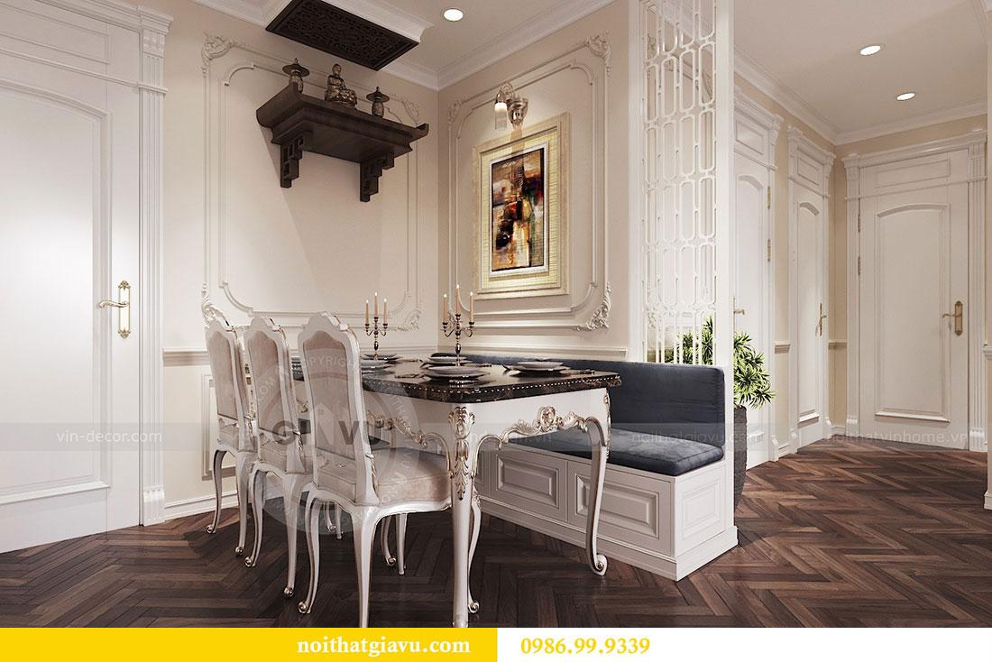 Thiết kế nội thất chung cư 107m2 phong cách tân cổ điển - anh Nam 2