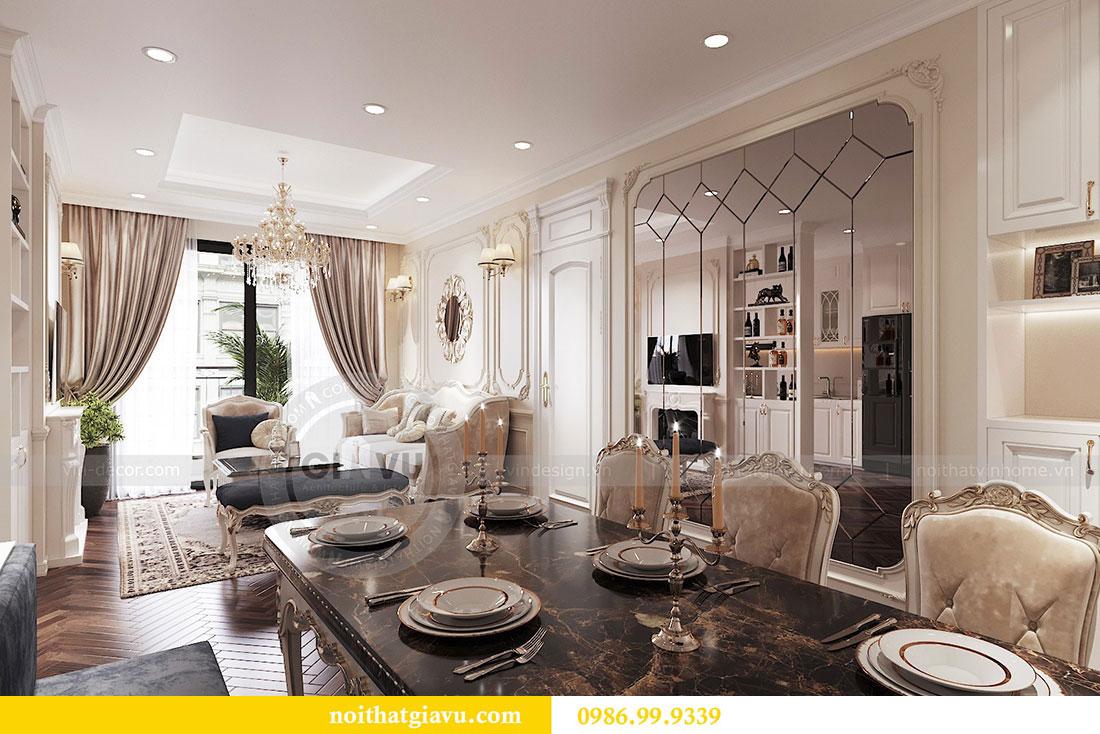 Thiết kế nội thất chung cư 107m2 phong cách tân cổ điển - anh Nam 3