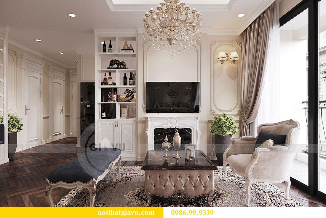 Thiết kế nội thất chung cư 107m2 phong cách tân cổ điển - anh Nam 4