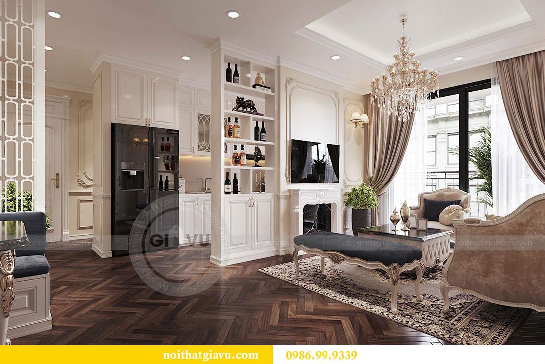 Thiết kế nội thất chung cư 107m2 phong cách tân cổ điển - anh Nam 5