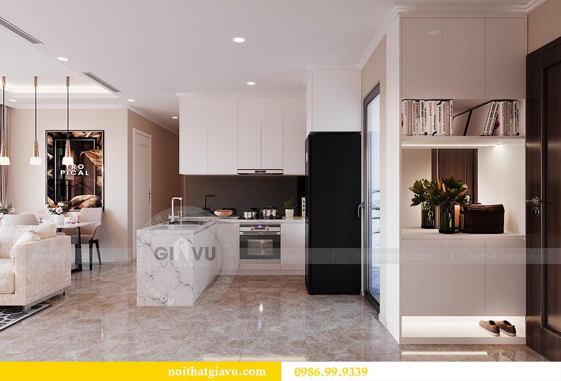 Thiết kế nội thất chung cư Dcapitale Trần Duy Hưng căn 3 ngủ 1