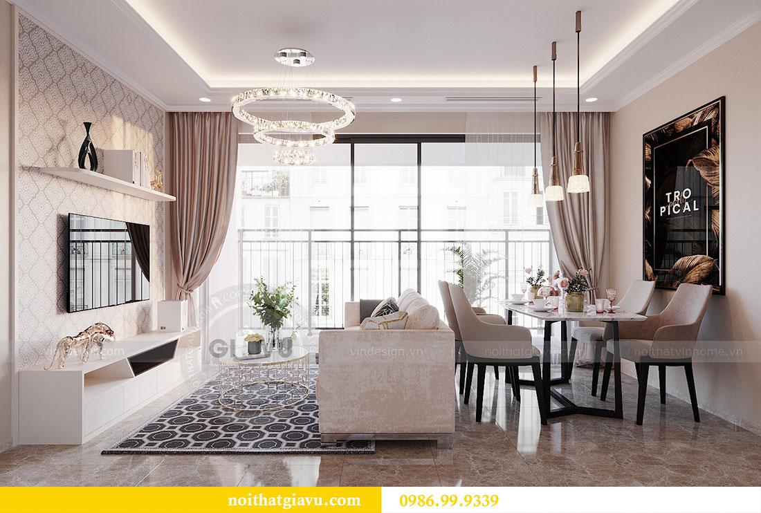 Thiết kế nội thất chung cư Dcapitale Trần Duy Hưng căn 3 ngủ 2