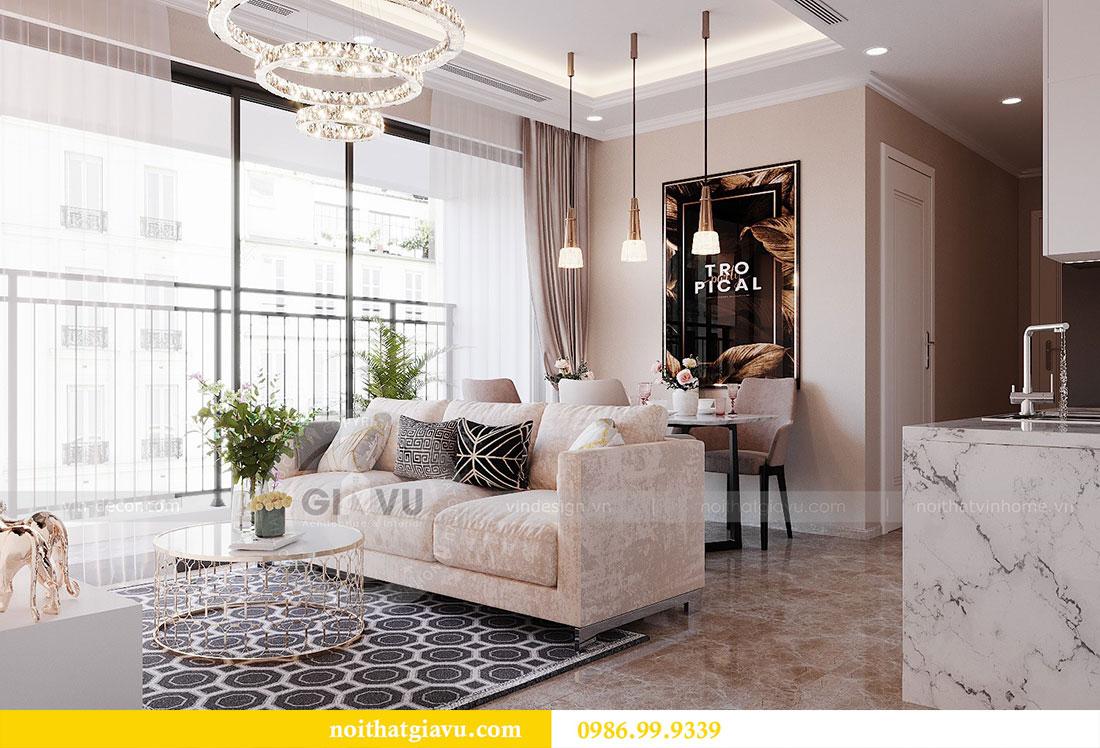 Thiết kế nội thất chung cư Dcapitale Trần Duy Hưng căn 3 ngủ 4