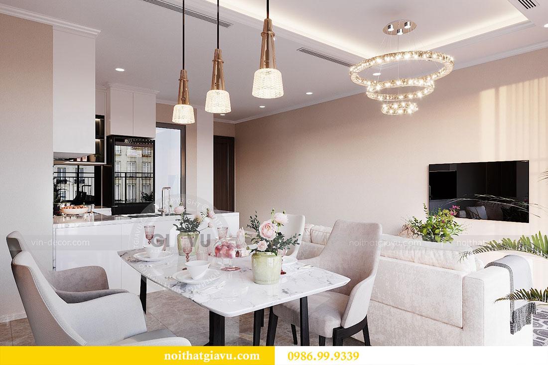 Thiết kế nội thất chung cư Dcapitale Trần Duy Hưng căn 3 ngủ 5