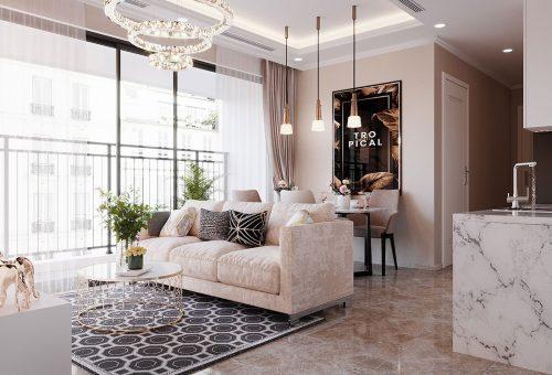 Thiết kế nội thất chung cư Dcapitale Trần Duy Hưng căn 3 ngủ – anh Bình