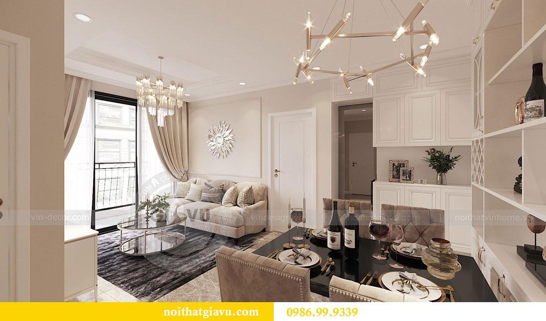 Tham khảo mẫu thiết kế nội thất chung cư 62m2 nhà chị Phương 1